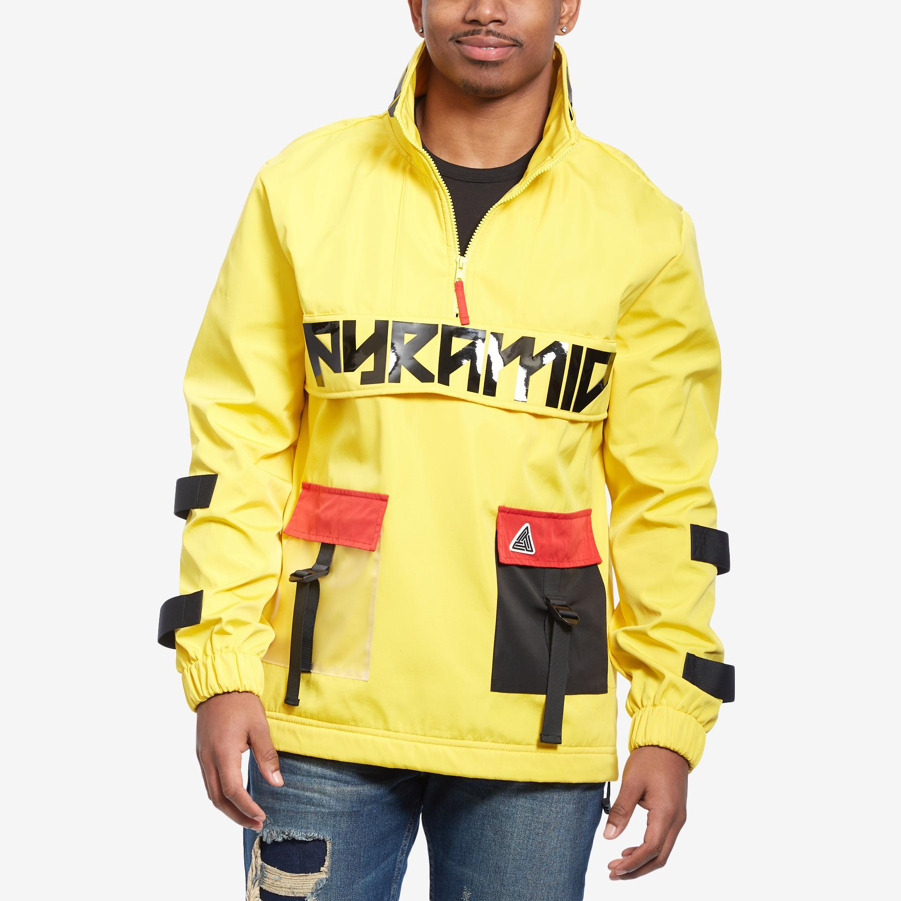 Clear Pocket Strapped Pullover Jacket