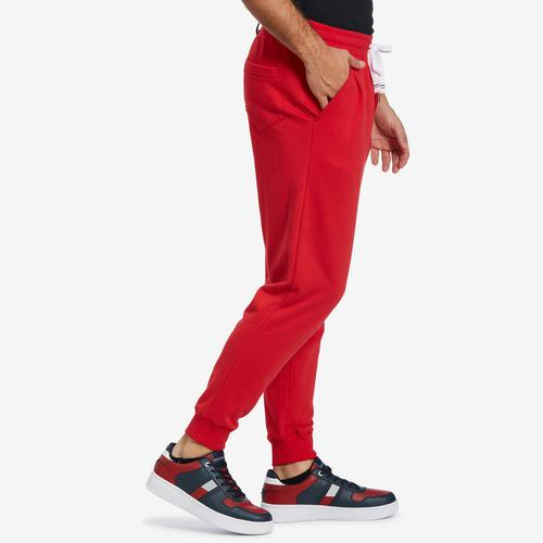 Right Side View of Tommy Hilfiger Men's Box Logo Fleece Joggers
