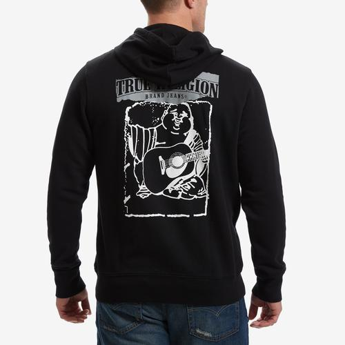 True Religion Buddha Ripped Zip Hoodie
