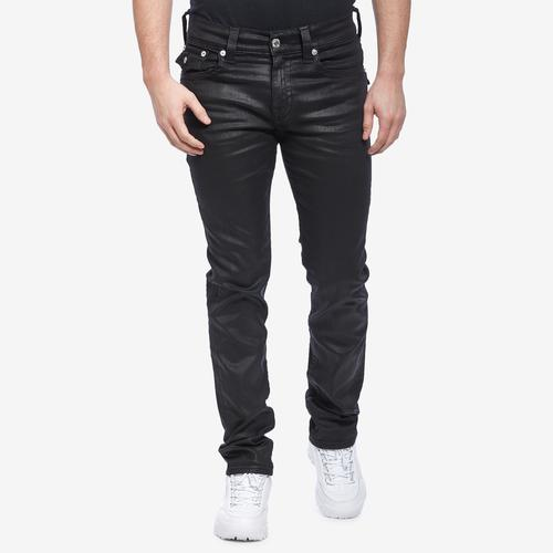 Front View of True Religion Men's Rocco Skinny Coated Jean