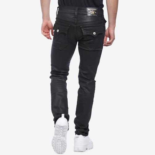 Back View of True Religion Men's Rocco Skinny Coated Jean