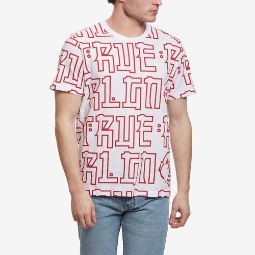 Front View of True Religion Men's Buddha Print Tee