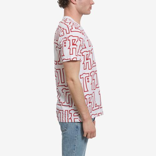 Left Side View of True Religion Men's Buddha Print Tee
