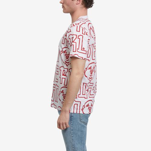 Right Side View of True Religion Men's Buddha Print Tee