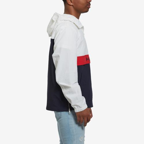 Left Side View of Tommy Hilfiger Men's Taslan Popover Jacket