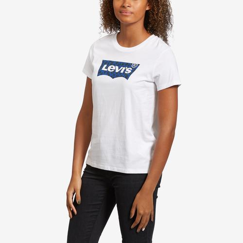 Front View of Levis Women's Logo Perfect Tee Shirt