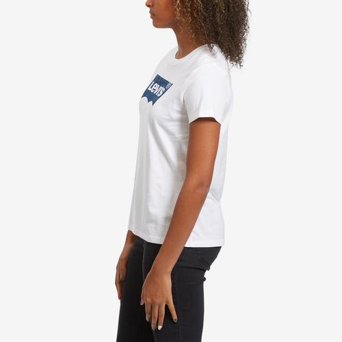 Left Side View of Levis Women's Logo Perfect Tee Shirt