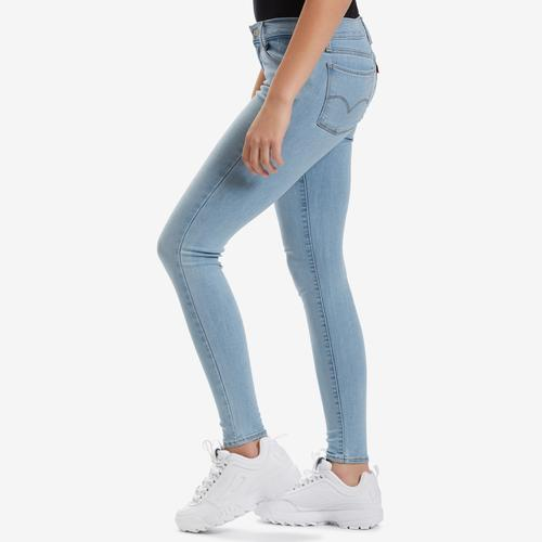 Left Side View of Levis Women's 710 Super Skinny Jeans
