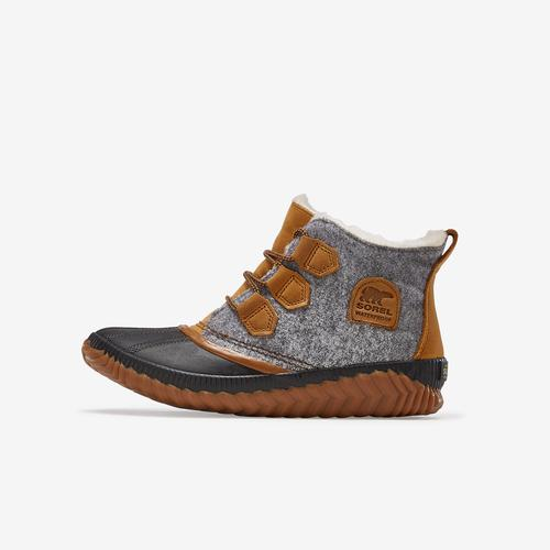 Left Side View of Sorel Women's Out N About™ Plus Felt Boot Sneakers