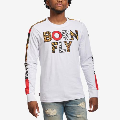 Front View of Born Fly Men's Navigator Long Sleeve Tee