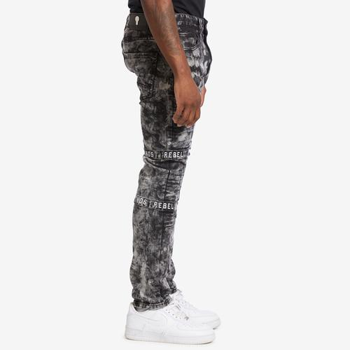 Right Side View of REBEL MINDS Men's Multi Strap Jean