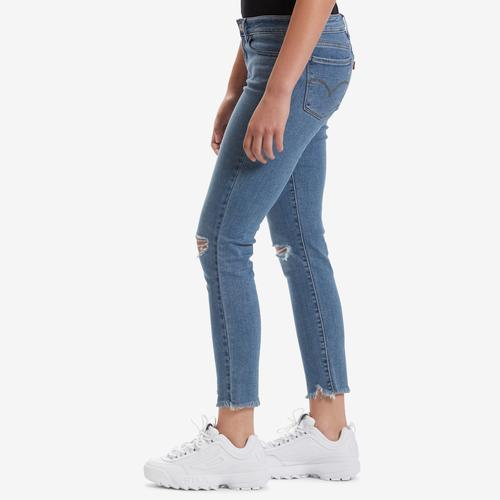 Left Side View of Levis Women's 711 Skinny Ankle Jeans