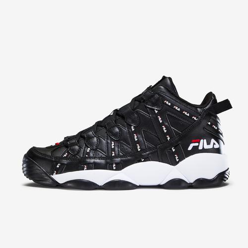 Left Side View of FILA Men's Stackhouse Spaghetti Repeat Sneakers