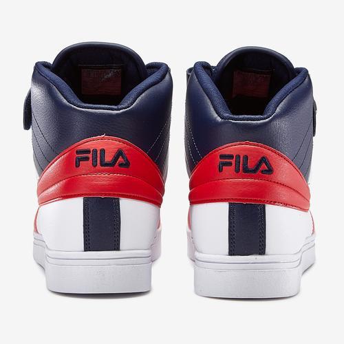 Back View of FILA Men's Vulc 13 Mid Plus Sneakers