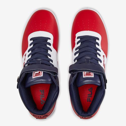Bottom View of FILA Men's Vulc 13 Mid Plus Sneakers