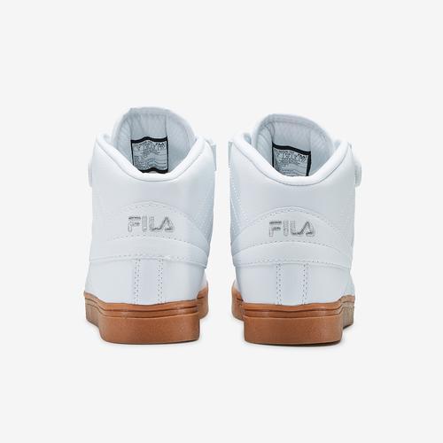 Back View of FILA Men's Vulc 13 Mid-Top Sneakers