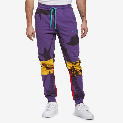 Front View of Staple Men's World Collage Photo Sweatpants