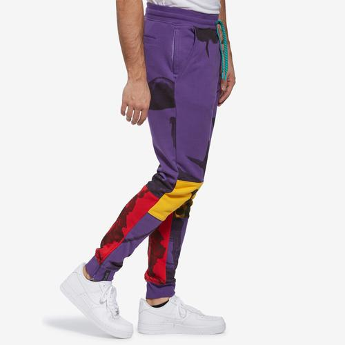 Left Side View of Staple Men's World Collage Photo Sweatpants