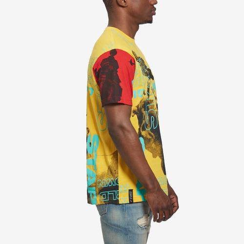 Left Side View of Staple Men's World Collage Photo Tee