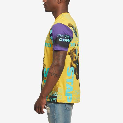 Right Side View of Staple Men's World Collage Photo Tee