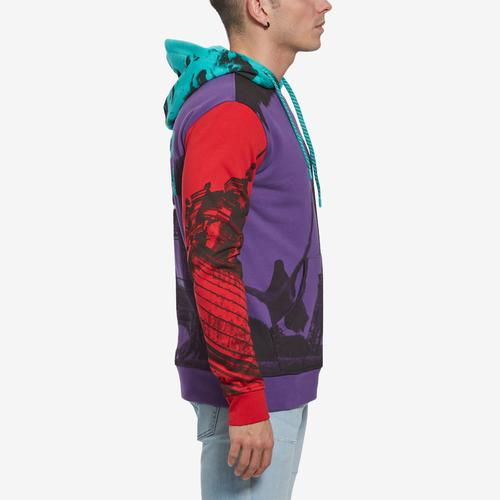Left Side View of Staple Men's World Collage Photo Hoodie