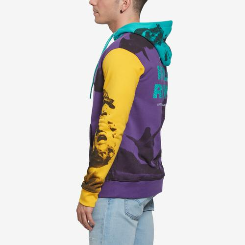 Right Side View of Staple Men's World Collage Photo Hoodie