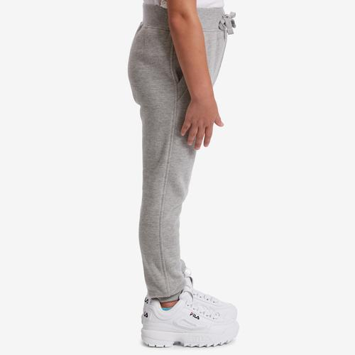Right Side View of Champion Girl's Preschool Joggers, Vertical Logo