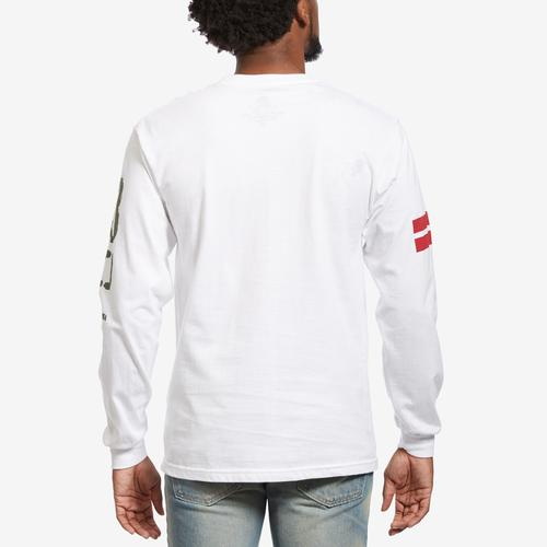 Back View of Hustle Gang Men's H-Leaf Long Sleeve T-Shirt
