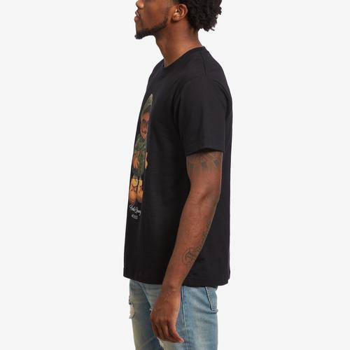 Left Side View of Hustle Gang Men's Bear Matic T-Shirt