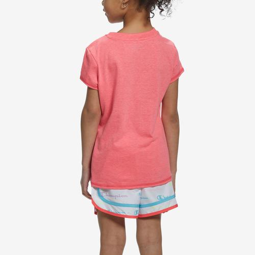Back View of Champion Girl's T-Shirt and Shorts Set