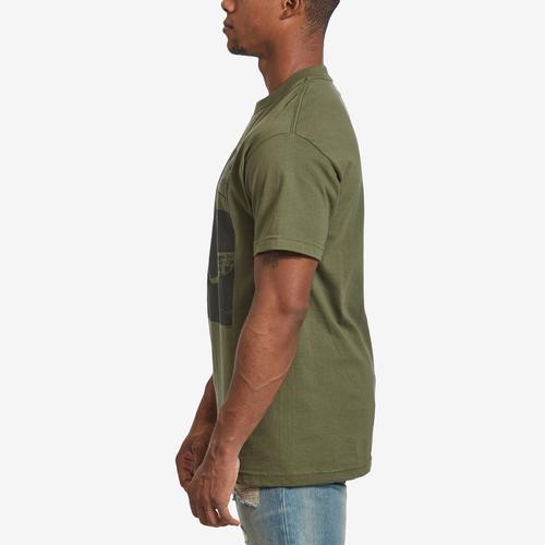 Left Side View of BRAVADO Men's Tupac Bold Army T-Shirt