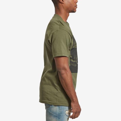Right Side View of BRAVADO Men's Tupac Bold Army T-Shirt