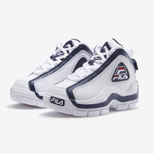 Side Angle View of FILA Boy's Preschool Grant Hill 2 Sneakers