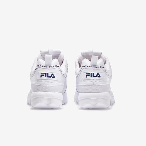 Back View of FILA Boy's Grade School Disruptor 2 Repeat Flag Sneakers