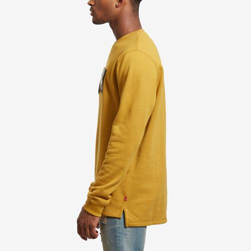 Left Side View of Levis Men's Umali Chenille Logo Crewneck