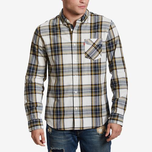 Front View of Levis Men's Holtby Flannel Shirt