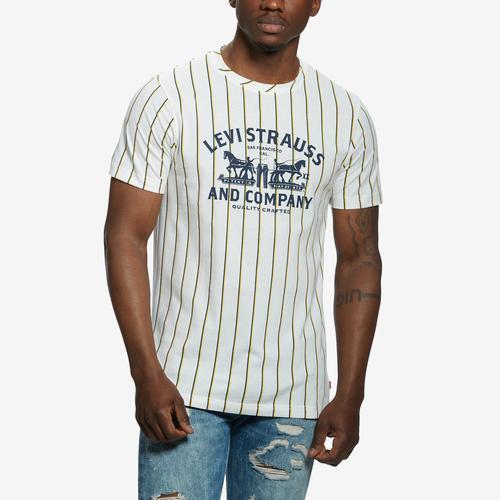 Front View of Levis Men's Fashion Stripe Tee