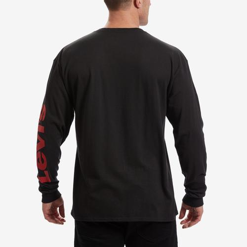 Levis Men's Long Sleeve Logo Tee