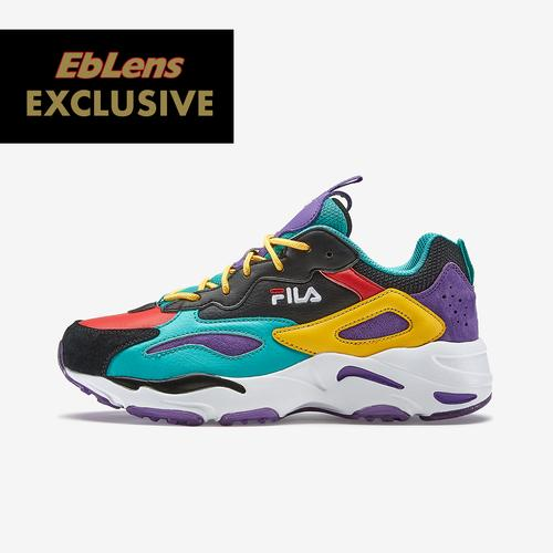 Left Side View of FILA Boy's Grade School FILA x EbLens Ray Tracer Sneakers