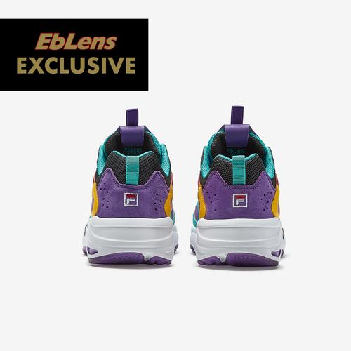 Back View of FILA Boy's Grade School FILA x EbLens Ray Tracer Sneakers