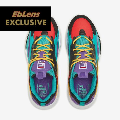 Bottom View of FILA Boy's Grade School FILA x EbLens Ray Tracer Sneakers
