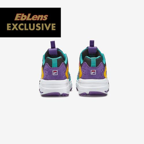 Back View of FILA Boy's Preschool FILA x EbLens Ray Tracer Sneakers