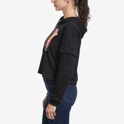 Right Side View of Freeze Women's MTV Cargo Hoodie