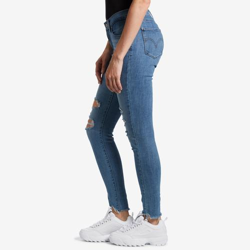 Left Side View of Levis Women's Curvy Skinny Jeans