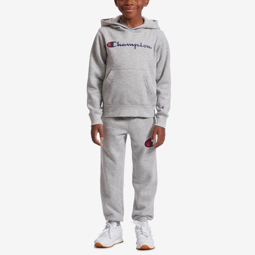 Front View of Champion Boy's Preschool Heritage Hoodie And Jogger Se