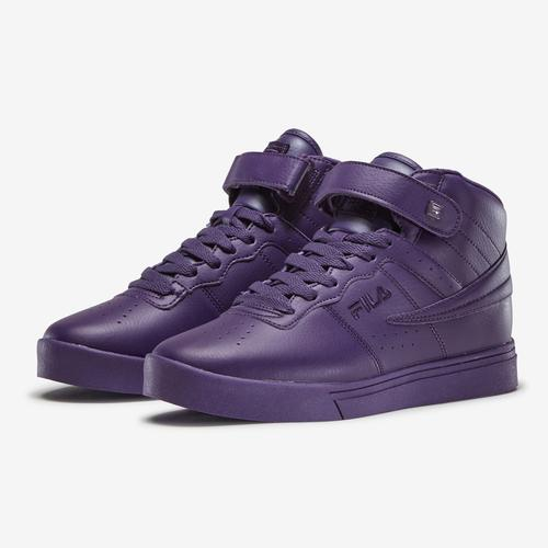 Side Angle View of FILA Women's Vulc 13 MP Tonal Sneakers