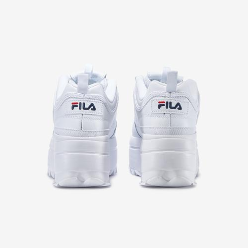 Back View of FILA Women's Disruptor 2 Wedge Sneakers