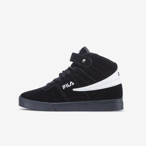 Left Side View of FILA Women's Vulc 13 Suede Sneakers