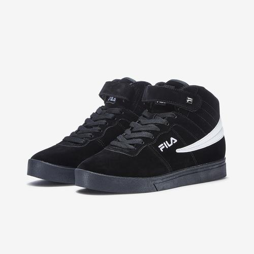 Side Angle View of FILA Women's Vulc 13 Suede Sneakers