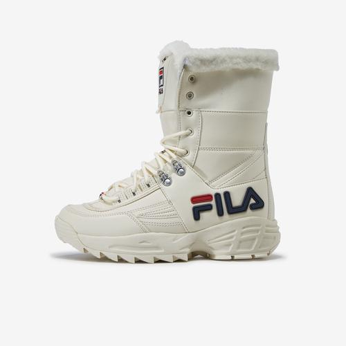 Left Side View of FILA Women's Disruptor 2 Boot Sneakers